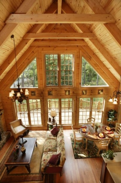 Small Log Home Plans With Loft