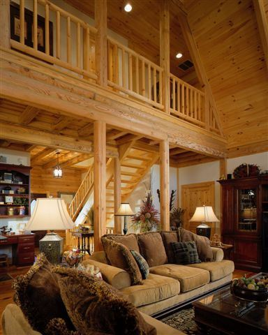 Interior Log Homes Photos (1)