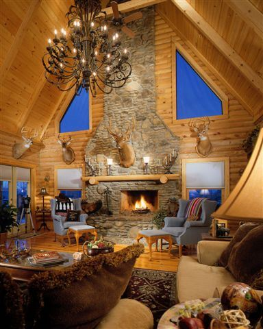 Interior Log Homes Photos (5)