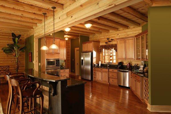Southland Log Homes - Highland Kitchen
