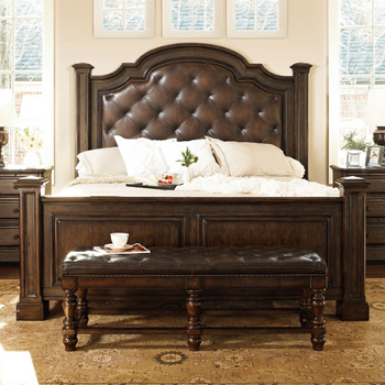 {Bernhardt Normandie Manor Leather Bed}
