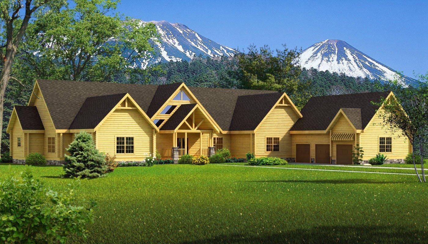 Big sky plans information southland log homes for Big log homes