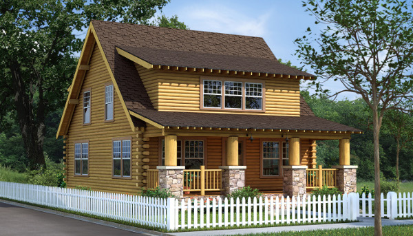 The Cambridge from Southland Log Homes