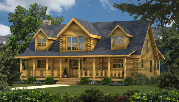The Caroline I from Southland Log Homes