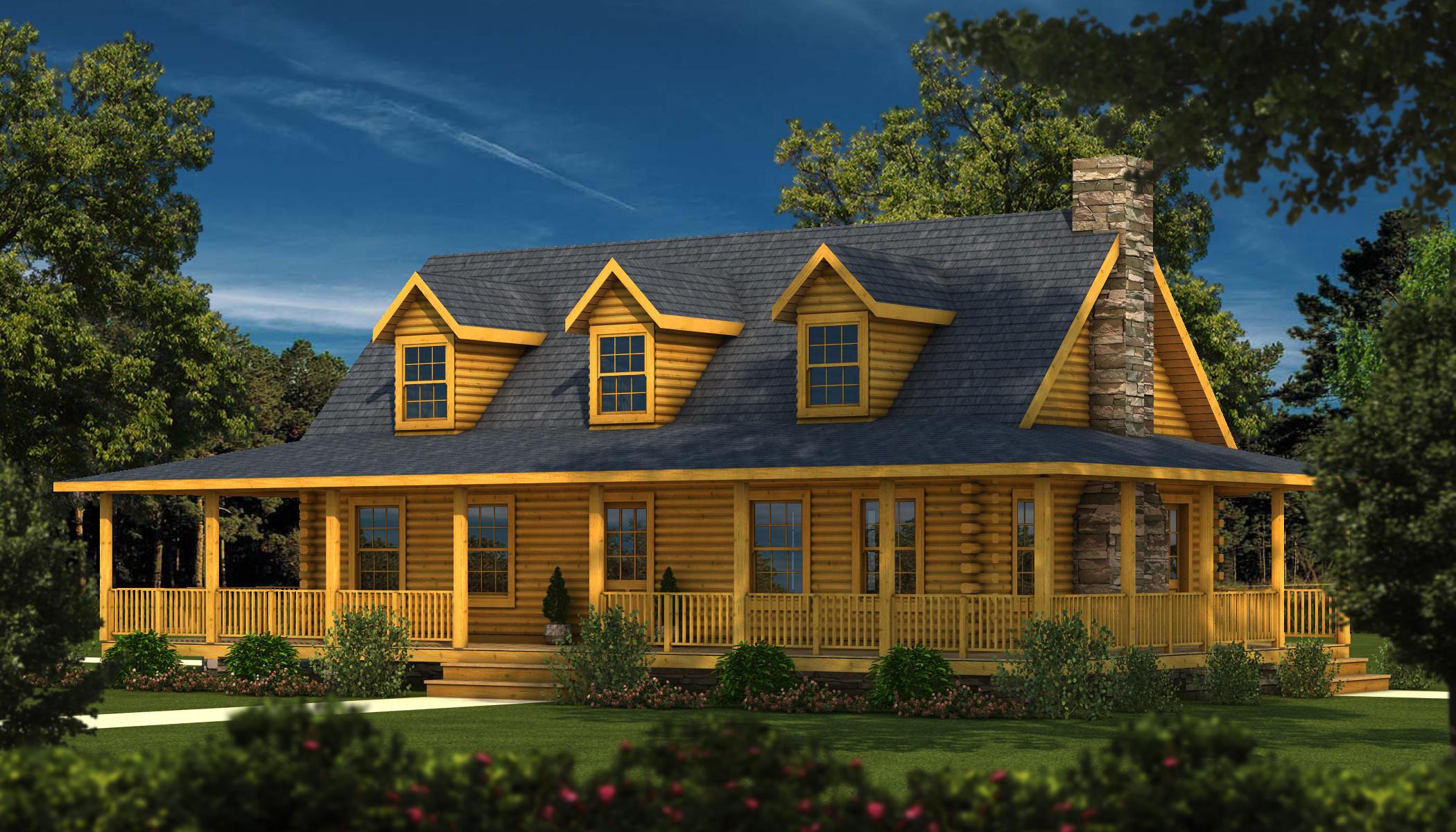 Log Home Builders ~ Charleston ii plans information southland log homes