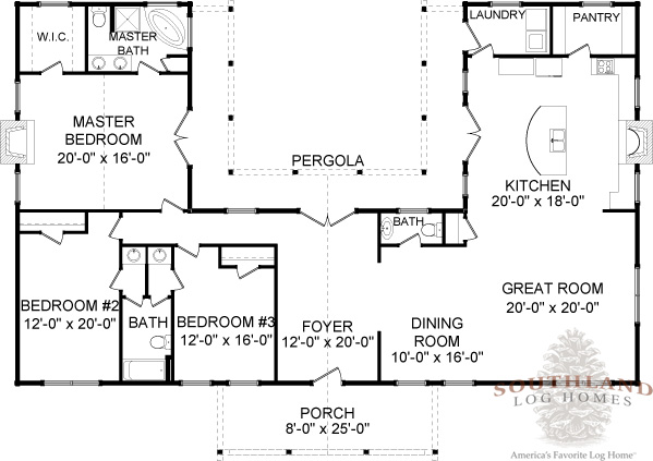 one story log home floor plans four seasons plans amp information southland log homes 27327