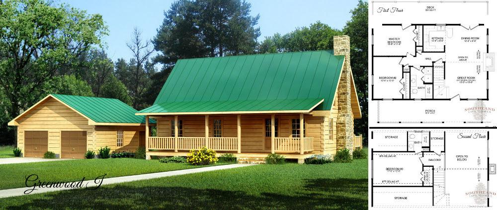 Greenwood I Log Homes