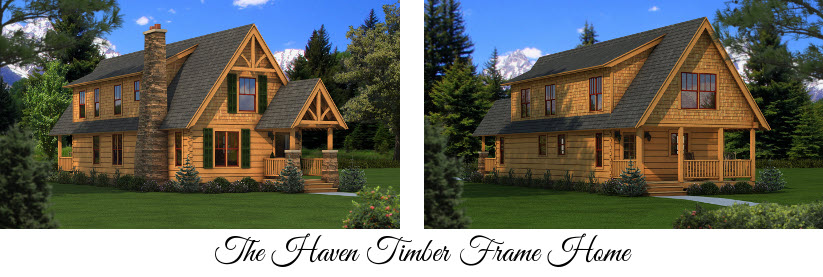 The Haven Timber Frame Home from Southland Log Homes