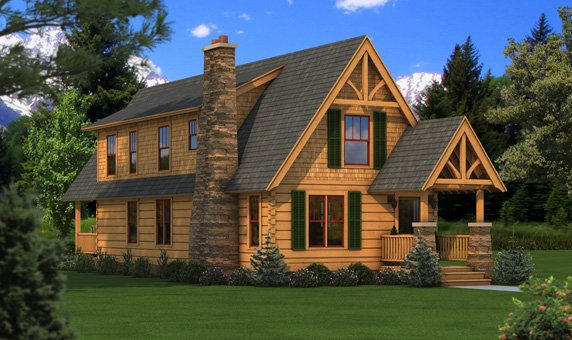 The Haven Floorplan from Southland Log Homes