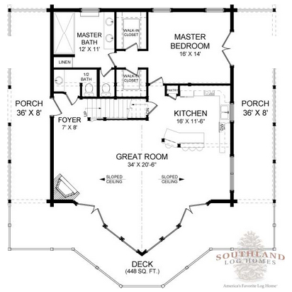 floorplan feature the henderson southland log homes