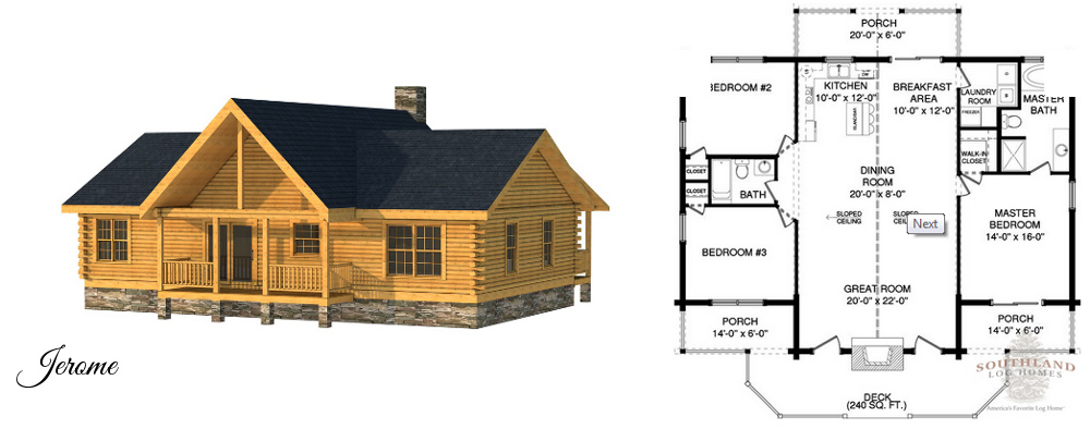 Small Log Homes & Kits | Southland Log Homes