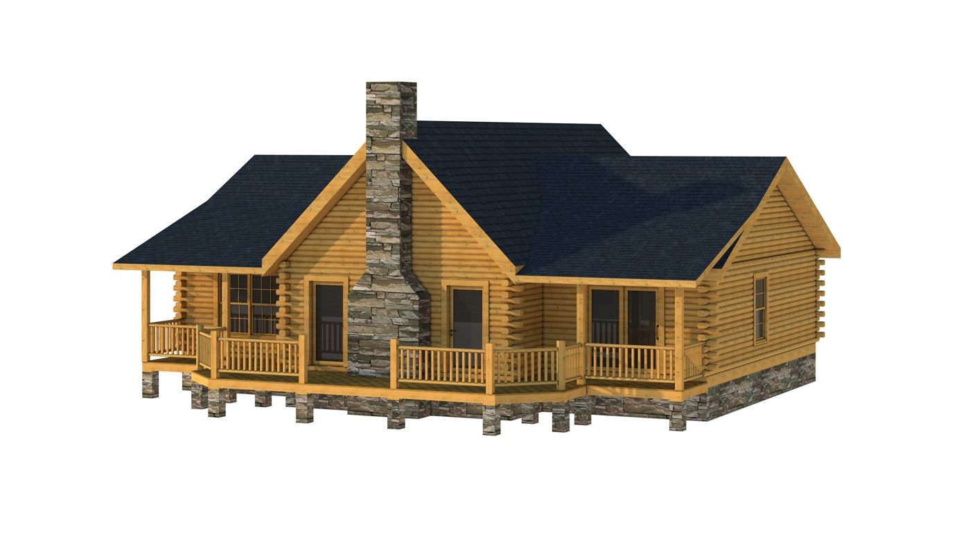 Jerome plans information southland log homes for Log home floor plans and designs