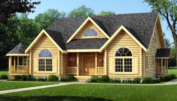 Featured Log Home Plan - Kingston