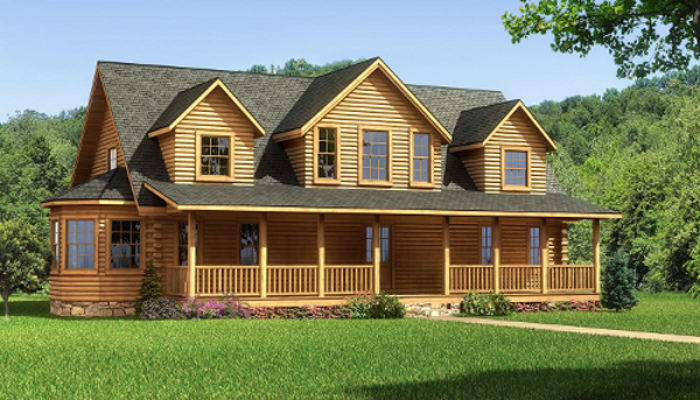 The Lawrenceburg from Southland Log Homes