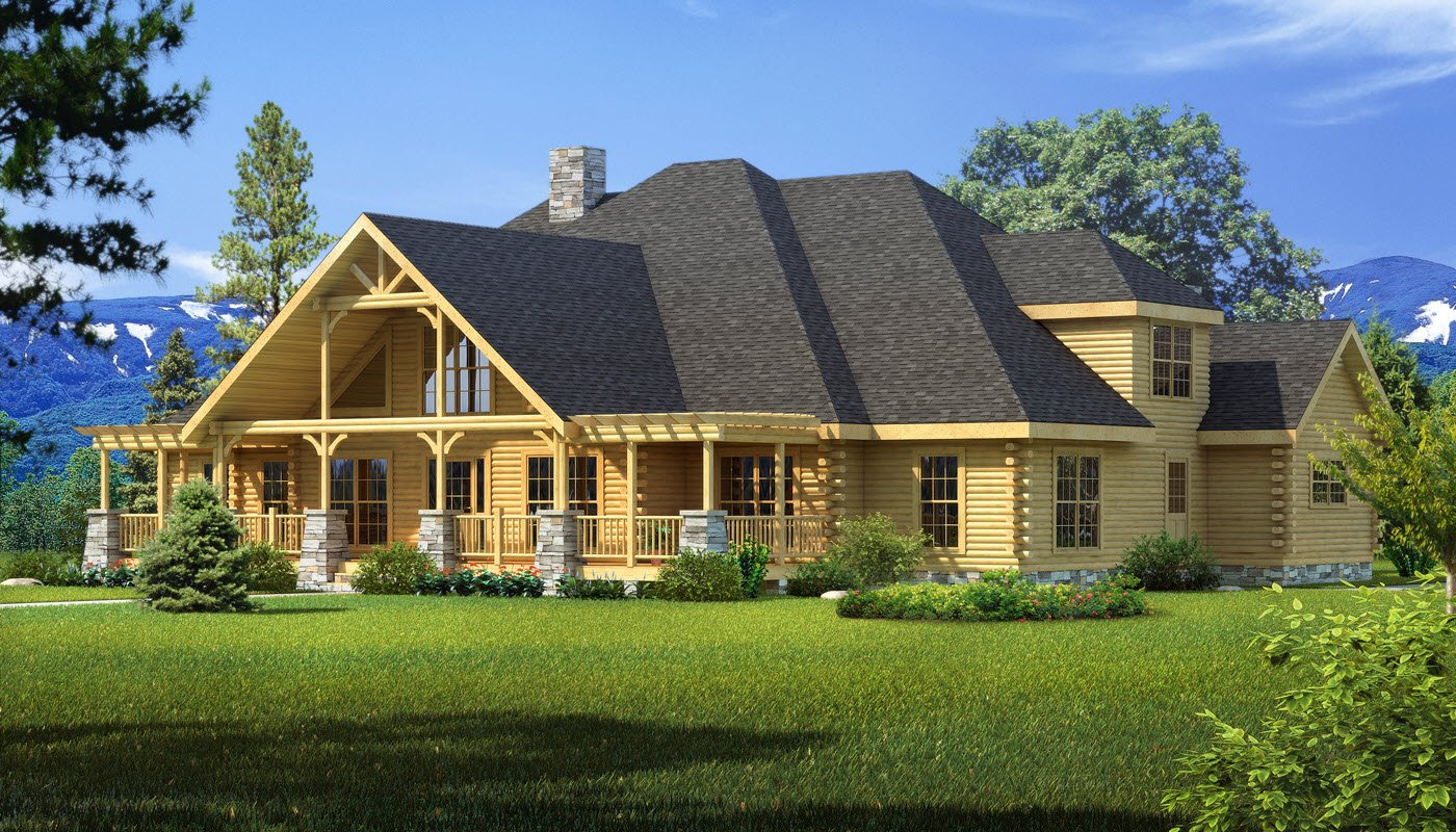 Featured Log Home Plan - Longleaf Lodge
