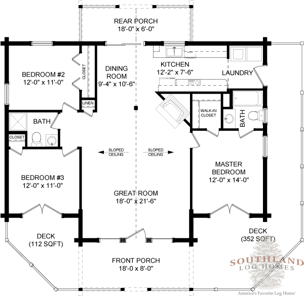 Oconee - Plans & Information | Southland Log Homes