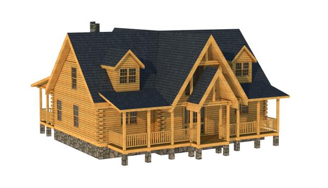 Orangeburg Floorplan from Southland Log Homes