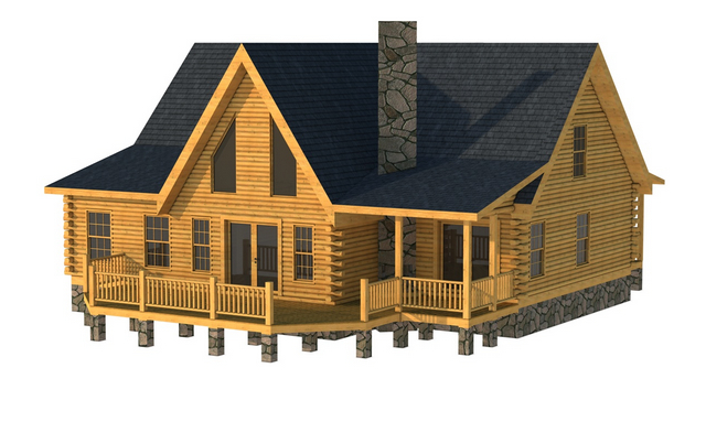 Rear Elevation: The Orangeburg from Southland Log Homes