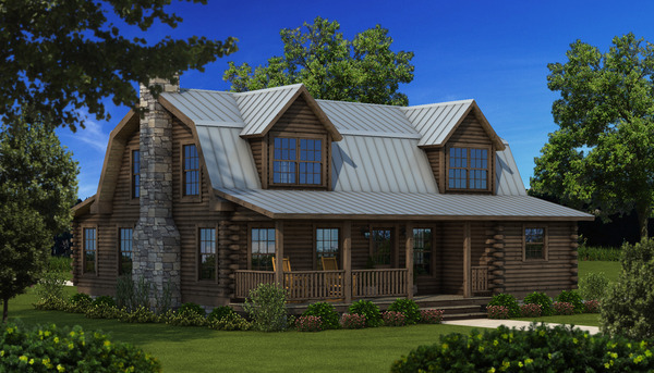 {Southland Log Home Richland Floorplan}