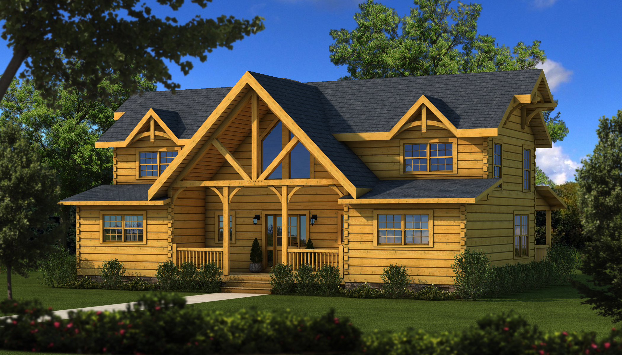River rock tf plans information southland log homes for River rock house plans