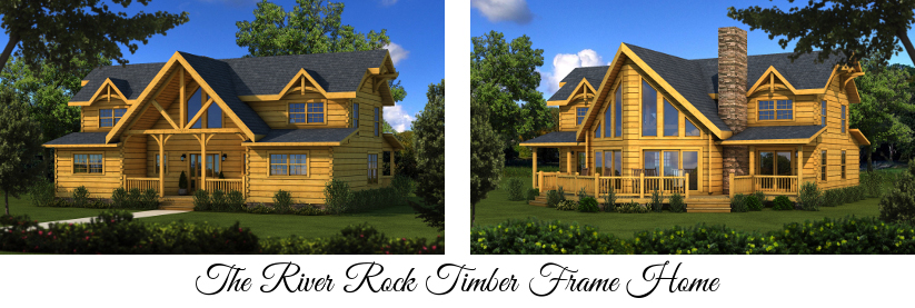 The River Rock Timber Frame Home from Southland Log Homes