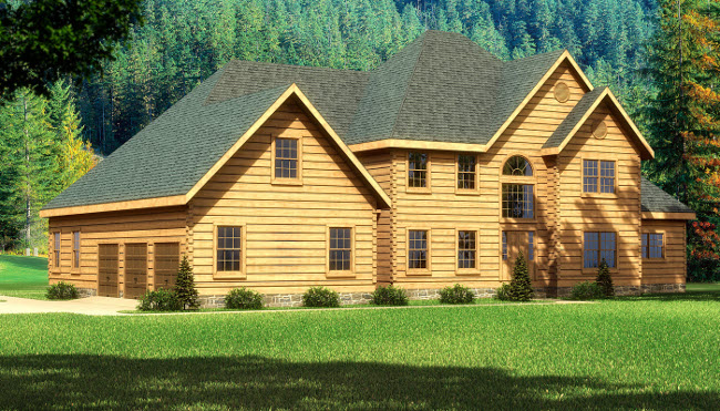 Featured Log Home Plan - Rutherford