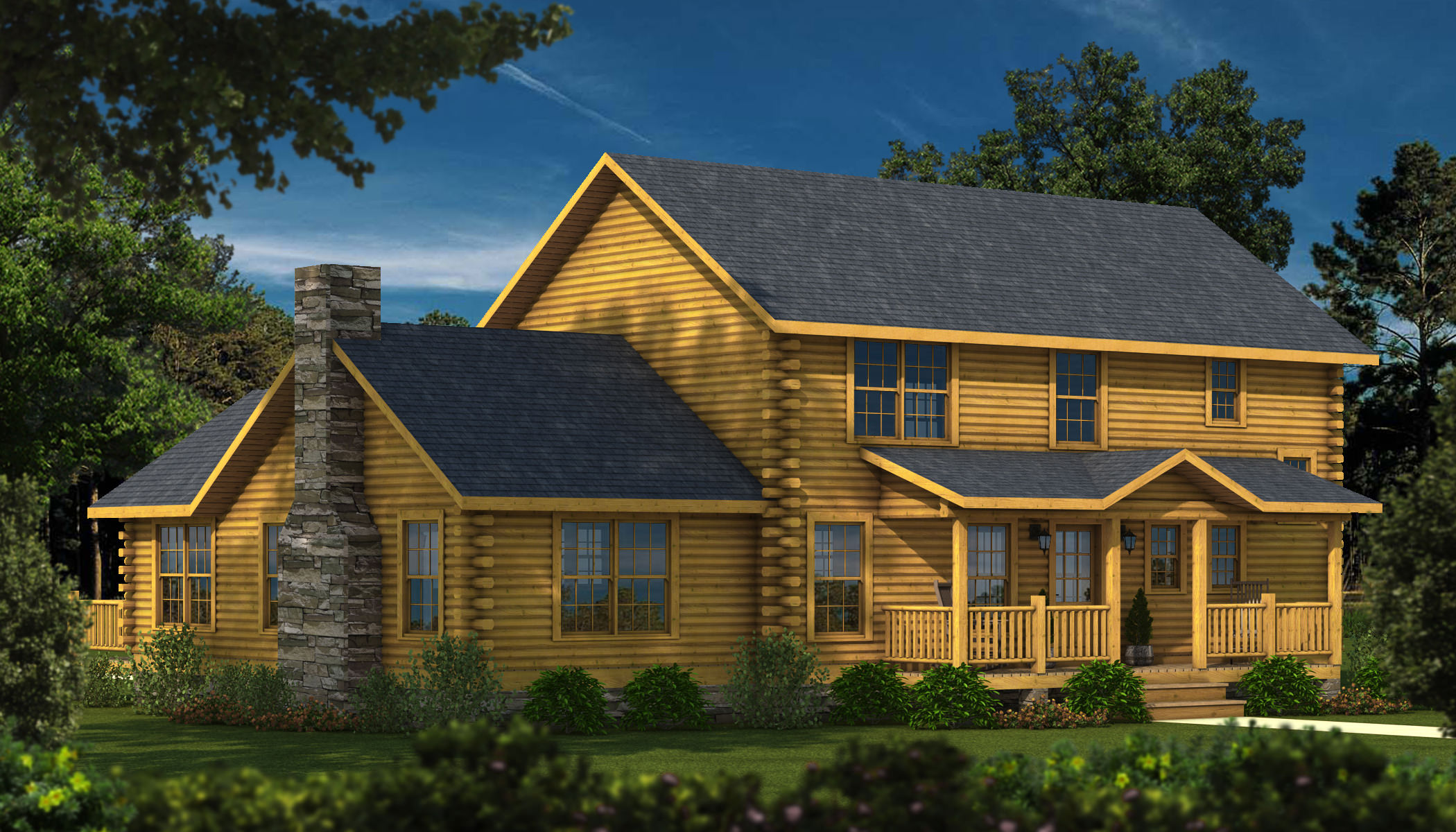 Twin Pines Plans Amp Information Southland Log Homes