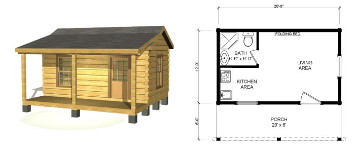 Southland   Small Log Cabin Kits 12x20 Cabin