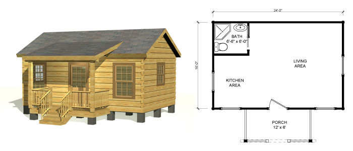 Tiny Log Home Designs: Small Log Cabin Kits & Log Homes