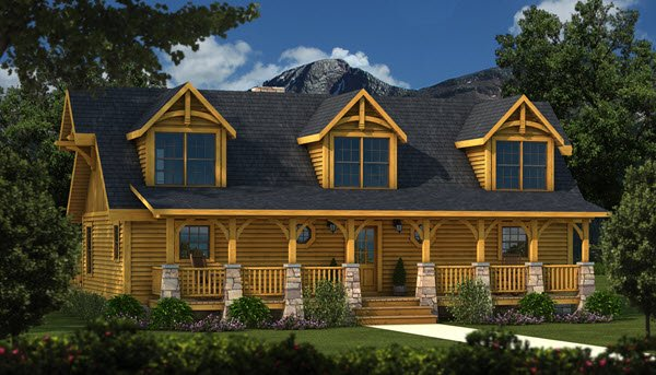 Southland Timber Frame Homes - Grand_Lake_TF_Front