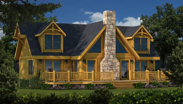 Southland Timber Frame Homes - Grand_Lake_TF_Rear