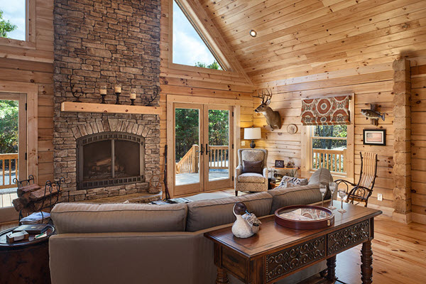 Southland Log Homes - Red River 2 Great Room