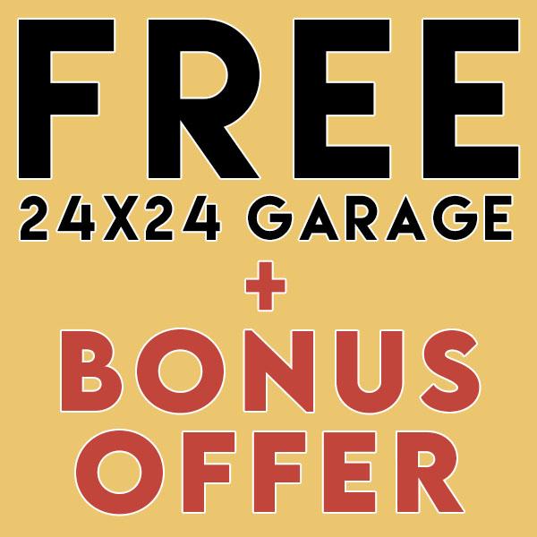 Free Garage plus Bonus Offer - Southland Log Homes